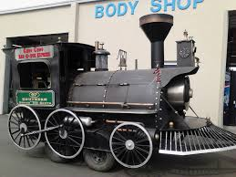 choo choos bbq the train is actually a smoker with four rotating