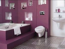 Modern Bathroom Shelving by Interior Killer Image Of Purple Bathroom Decoration Using Modern