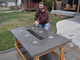 Homemade Patio Table by Stunning Led Concrete Patio Table With A Built In Cooler