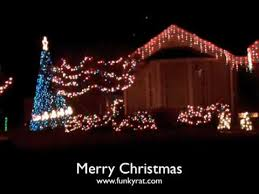 christmas light show xmas lights blink to music awesome youtube