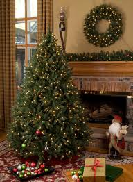 decorating beautiful balsam hill trees with beige wall decor