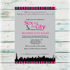 and the city bridal shower invitation diy digital file