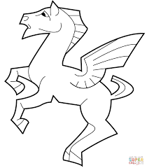 pegasus by m c escher coloring page free printable coloring pages