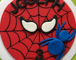 How To Decorate Spiderman Cake Spiderman Cake Etsy
