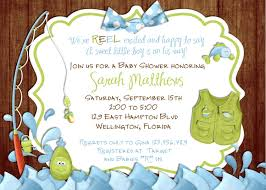 baby shower invitations cozy fishing themed baby shower