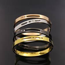 stainless steel crystal bangle bracelet images Silver rose gold black moving crystal bangles france brand new jpg