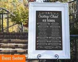 chalkboard wedding program template chalkboard template etsy