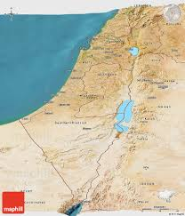 Blank Map Of Israel by Satellite Panoramic Map Of Israel