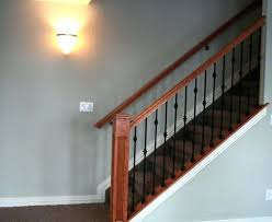 basement stairs railing stair ideas contemporary home decor image