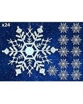 deal on 9 white glitter snowflake ornament