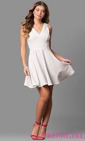 white glitter jersey graduation party dress promgirl