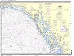 Southeast Alaska Map Noaa Chart 16016 Dixon Entrance To Cape St Elias
