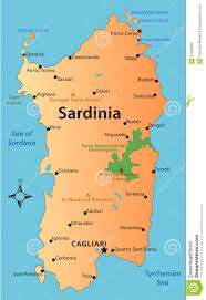 Italy Map Cities by Map Of Sardinia Royalty Free Stock Image Image 37266086