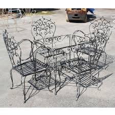 Wrought Iron Patio Tables Patio Vintage Wrought Iron Patio Furniture For Sale Stupendous