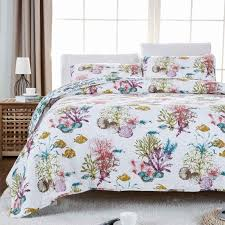 Fish Themed Comforters Coastal Bedding And Beach Bedding Sets Beachfront Decor