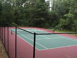 Backyard Tennis Court Cost Gym Floors And Outdoor Courts Installations For Commercial
