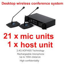 microphone de bureau professionnel 2 4g numérique sans fil de bureau conférence