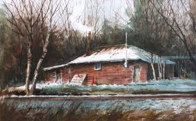 keeping warm watercolor by jack dorsey camano island wa