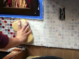 How To Install Glass Mosaic Tile Backsplash In Kitchen by Installing A Tile Backsplash In Your Kitchen Hgtv