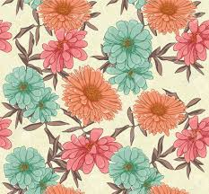 floral seamless pattern with hand drawn flowers royalty free