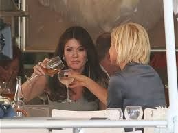 yolanda foster hair how to cut and style lisa vanderpump and yolanda foster have lunch at villa blanca