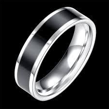 man steel rings images Hot sale stainless steel rings men screw finger ring black white jpg