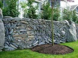 gartenzaun sichtschutz gestaltungsideen stein materialien