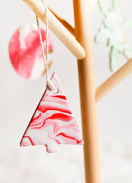 diy marbled clay ornaments julep
