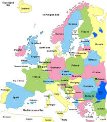 a map of europe with countries a map of europe with countries major tourist