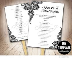 diy wedding program fans template 291 best wedding templates diy weddings images on