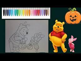 winnie pooh piglet halloween coloring disney coloring
