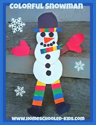 so adorable this colorful snowman craft for kids is easy to make