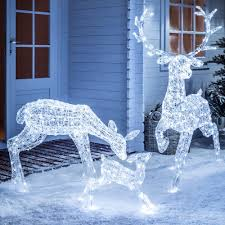 rattan deer lighted sculpture decorating for christmas