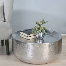 Refinish Metal Patio Furniture - horizon moroccan hammered coffee table silver coffee room and