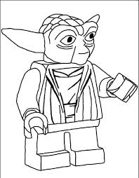 star wars yoda colouring pages coloring kids lego sheets