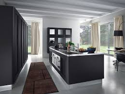 high end appliance with modern kitchen sink on futuristic black