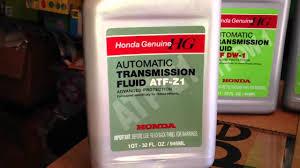 honda atf dw 1 vs aft z1 automatic transmission fluid info youtube