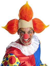 Scary Clown Halloween Costumes Adults Amazon Wig Evil Clown Clothing