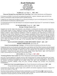exle of a functional resume resume international strategic sourcing supplier developmen