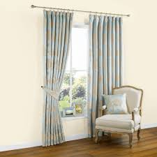 Duck Egg Blue Damask Curtains Caraway Duck Egg U0026 Gold Effect Floral Jacquard Pencil Pleat