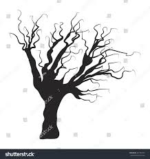 birch wood halloween background halloween creepy scary bare tree vector stock vector 487752418