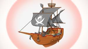 cartoon pirate ship cinema 4d sketch and toon 3d model youtube