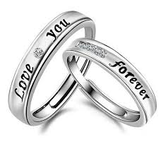 rings simple design images Adjustable promise statement couple rings evermarker jpg