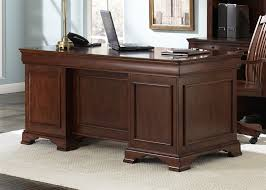 Home Office Executive Desk Jr Executive Home Office Desk In Cherry Finish By Liberty
