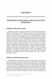 how to write a qualitative research paper descriptive research and qualitative research springer introduction to nutrition and health research introduction to nutrition and health research