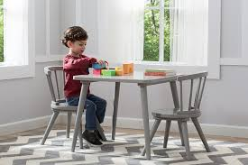 3 piece table and chair set amazon com delta children windsor table 2 chair set grey baby