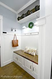 the bright and light mudroom makeover is complete from thrifty