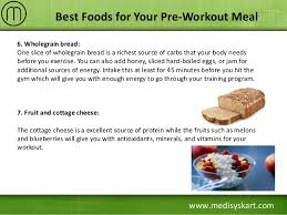 best foods for your pre workout meal