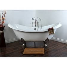 Bathtubs 54 Inches Long Classic Roll Top Petite 54 Inch Cast Iron Clawfoot Tub With Tub