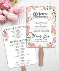 Diy Fan Programs Wedding Fan Programs Diy Printable Vintage Rose Wedding